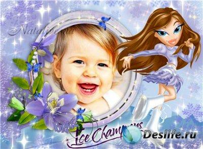 Рамка детская для фотошопа – Куклы Bratz Шатенка