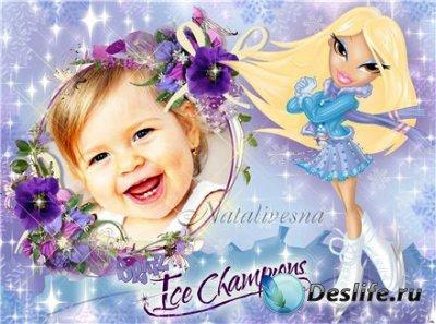 Рамка детская для фотошопа – Куклы Bratz Блондинка