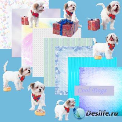 Скрап-набор для Фотошопа - Мой щенок