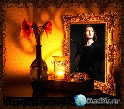 Рамка для фотошопа - Ночной портрет