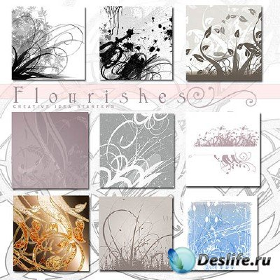 Кисти для фотошопа - Rons Flourishes Brushes