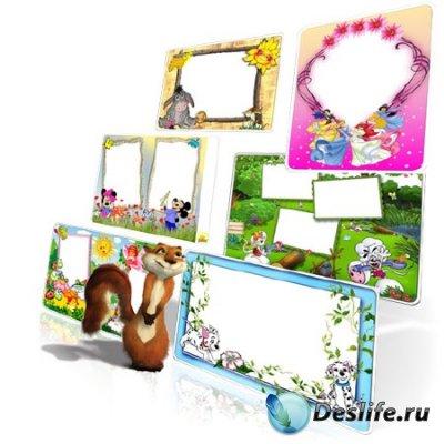 Рамки для фотошопа - Набор детских рамочек
