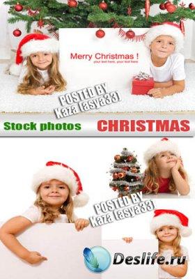 Stock Photos - Рождественские дети и баннер