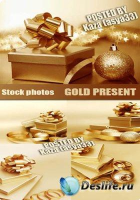 Stock Photos - Золотой подарок