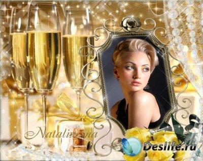 Рамка для фотошопа – Праздник желтых роз