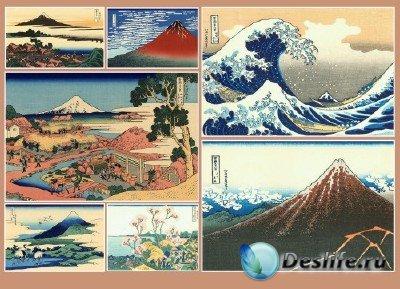 Вокруг света (подборка №3 - Священная гора Фудзияма в гравюрах)