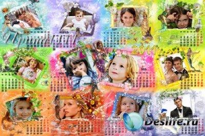 Календарь для фотошопа на 2011 год - Русалочка