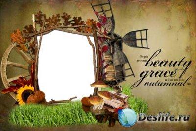 Рамка для фотошопа - Осенние деньки