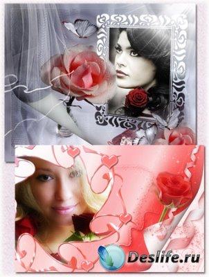Две рамки для фотошопа с розами