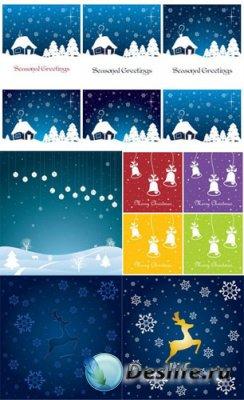 Фоны для фотошопа - Зимние рождестсвенские фоны