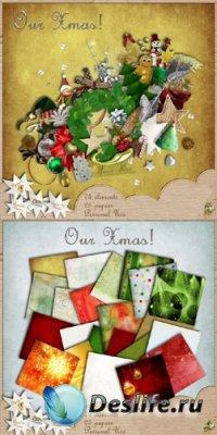 Скрап-набор - Наше Рождество
