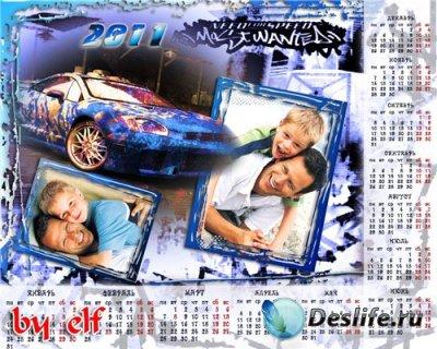Календарь-рамочка на 2011 год для мальчика