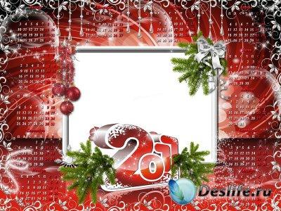 Рамка-Календарь на 2011 год - Новогодний