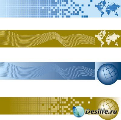 Подборка векторных глобусов Земли