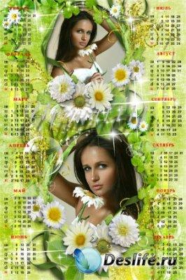 Календарь для фотошопа на 2011 год - Ромашки