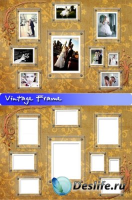 Винтажная рамка для фотошопа - Vintage Frame