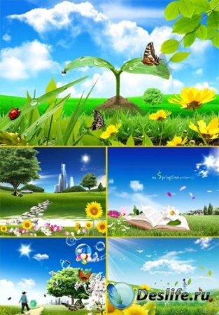 PSD исходники для фотошопа - Весна