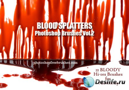 Кисти для фотошопа - Blood Splatter Photoshop Brushes. Part 2