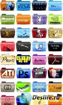 Большая подборка разнообразных иконок на различные темы