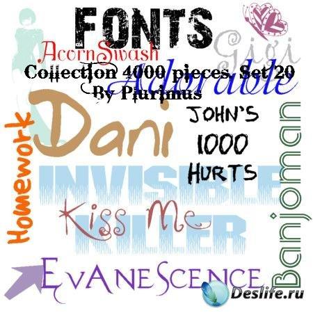 3800+ TTF Набор шрифтов для фотомонтажа (Часть 1)