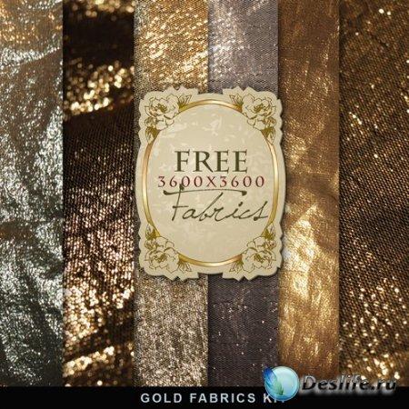 Фоны для фотошопа – Gold Fabrics Kit