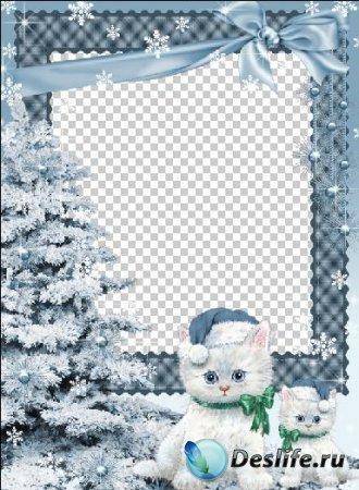 Рамка для фотошопа - Голубая зима