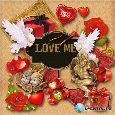 Мини скрап-набор – Love me