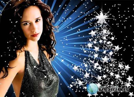 Рамка для фотошопа - Новогодние огни