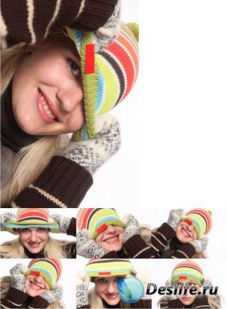 Stock Photos - Девушка в зимней одежде