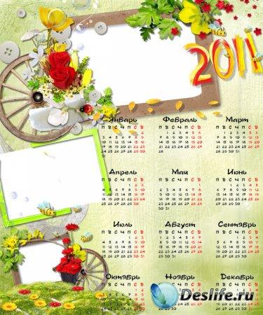 Календарь для фотошопа 2010 - Летние воспоминания