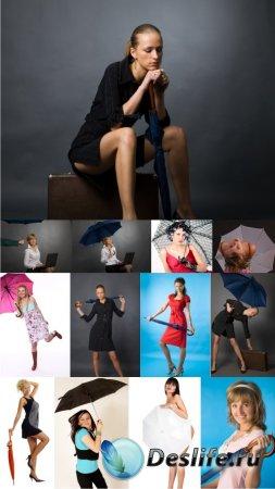 Stock Photos - Girl with umbrella (Девушки с зонтиком)