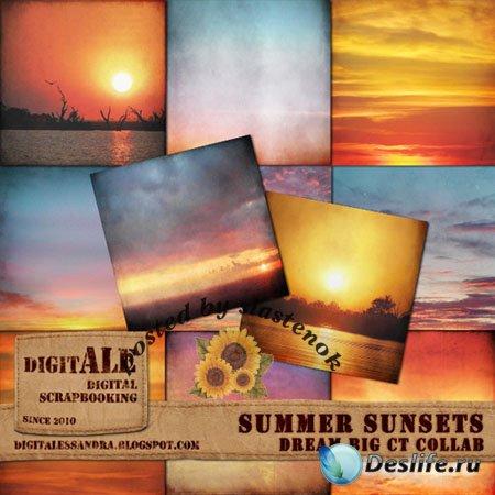 Фоны для фотошопа - Летние закаты (Summer sunsets)