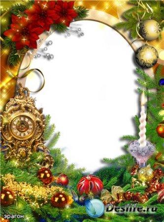 Новогодняя рамочка для фотошопа – Золотое время