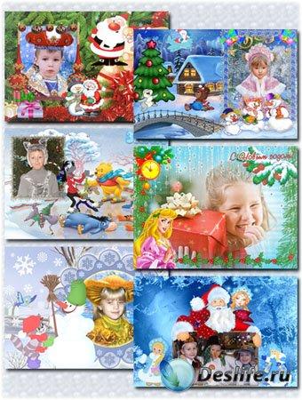 Рамки новогодние для детей