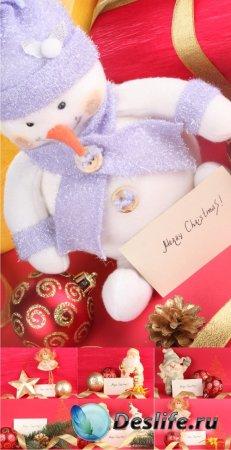 Stock Photos - Christmas Cards 1 (Новогодние украшения)