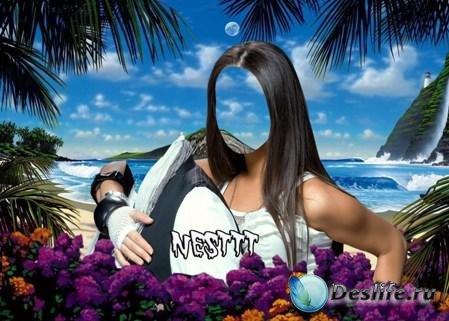 Костюм для фотошопа - Влюблённые в райском уголке