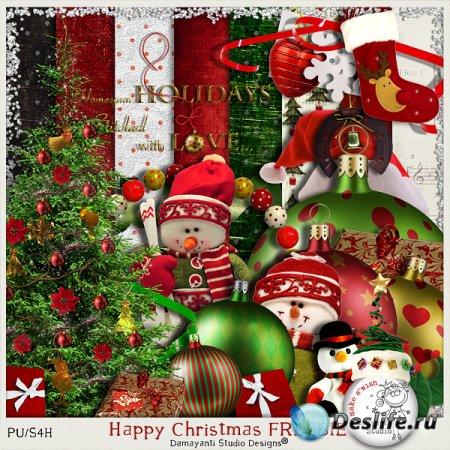Скрап-набор для фотошопа - Счастливого Рождества