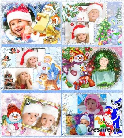 Рамки для фотошопа - Детский новый год