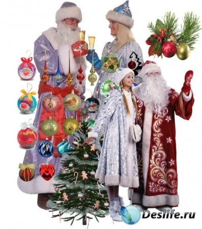Клипарты для фотошопа - Новогодние украшения