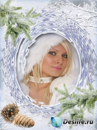 Рамка для фотошопа - Снежная зима