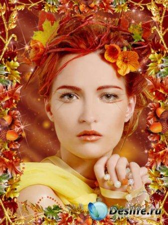 Костюм для фотошоп - Девушка-осень