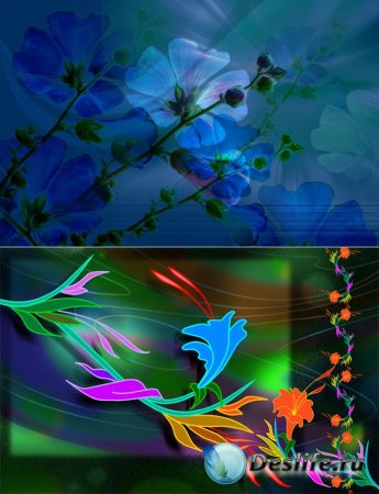 PSD-исходники для фотошопа - Цветочные фантазии
