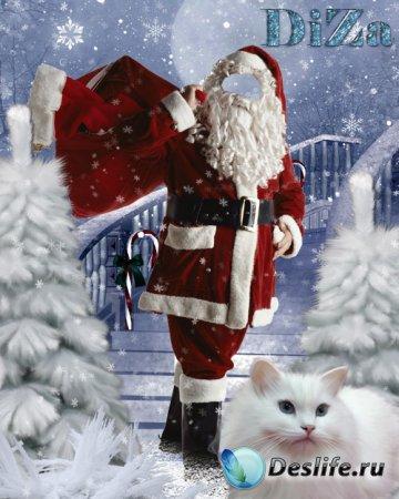 Костюм для фотошопа - Деда Мороза