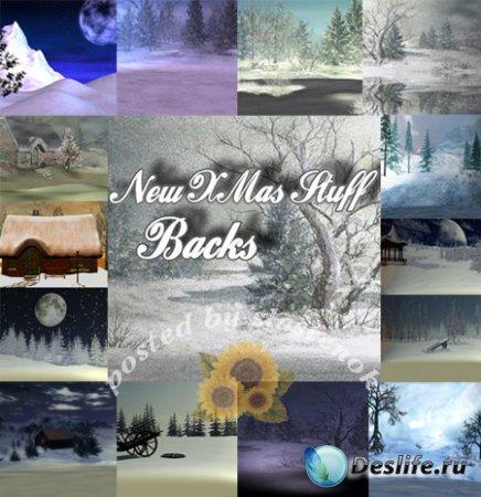 Новые зимние фоны для фотошопа