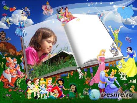 Рамка для фотошопа - Сказочная книга