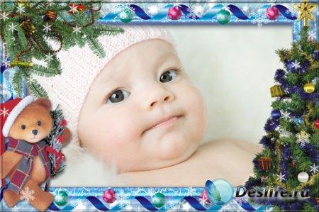 Новогодняя детская рамка для Photoshop – Мое счастье