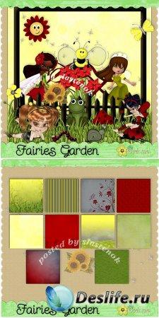 Скрап-набор - Садовые феечки (Garden fairies)
