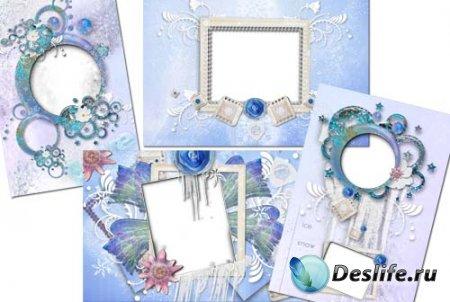 Рамка для фотошопа - В гостях у Снежной королевы