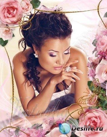 Рамочка для фото - Розовые розы
