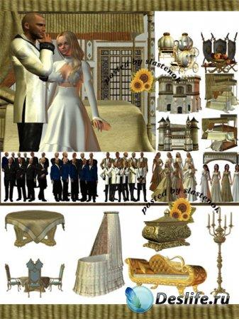 Большой сборник клипарта - Королевские апартаменты